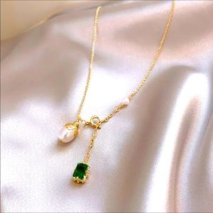 Beautiful Dainty Pearl Charm Necklace
